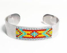Southwestern Jewelry Beaded Bracelets by SKBeadedBoutique on Etsy Hippie Bracelets, Bead Loom Bracelets, Woven Bracelets, Beaded Jewelry, Unique Jewelry, Bohemian Style Jewelry, Southwestern Jewelry, Adjustable Bracelet, Loom Beading