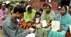 Women in Bangladesh returning loans to an officer from #Grameen Bank, a Nobel prized organisation founded by Muhammad Yunus.  Find more at: http://impressivemagazine.com/2013/07/30/grameen-bank-the-bank-of-poor/ #grameenbank  #Yunus