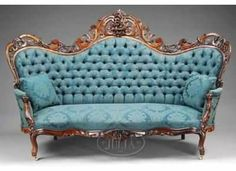 Vintage couch...love the color, design, and elegance of this!