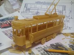 View this innovative design - Model Trains built from Pasta!