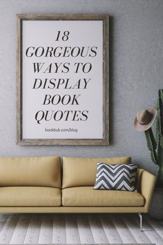 Check out these gorgeous and creative ways to display book quotes throughout your home.  #books #quotes #decor Diy Projects To Try, Craft Projects, Cute Door Mats, Reading Nook Kids, Library Inspiration, Nook Ideas, Framed Quotes, Literary Quotes, Library Card