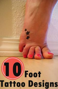 Foot Tattoos: Here are 10 foot tattoo designs you can try.
