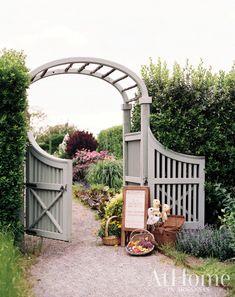 Boxwood Garden, Lush Garden, Garden Gates, Garden Beds, Spring Social, Blue Palette, Classic Garden, Hand Painted Signs, Garden Styles