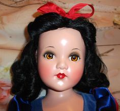 """27"""" Snow White Portrait Effanbee Effanbee Dolls, Sewing Dolls, Madame Alexander, Doll Face, Vintage Dolls, Baby Dolls, Snow White, Composition, Faces"""