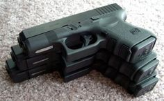 Top to bottom: Glock 26, 19, and 17. I have the 19..nice ride