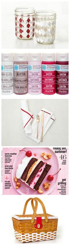 Berry Tones: Martha Stewarts June 2015 Mad About Color #plaidcrafts