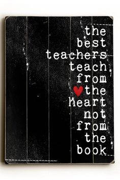 The Best Teachers Wood Wall Plaque.