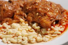 Hungarian chicken paprikash with dumplings, this is an amazing dish, super easy and flavorful. Get the recipe and join the culinary journey around the world, it's free at http://www.internationalcuisne.com