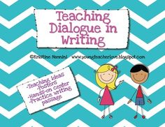 This free pack is sure to help you through your writing dialogue unit! In this pack you will receive:-Posters outlining the rules to edit and punctuate dialogue correctly -A passage for students to correctly edit and punctuate dialogue, with answer keys-Links to my blog posts on teaching dialogue with additional ideas, lessons, and mentor texts-Student center/group activity and recording sheet to practice putting together a quote with the correct punctuationSee my 2 blog posts at…