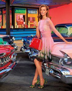 """I Love Americana"":Americana ManhassetSpring/Summer 2012 Catalog    Creative Director:Charles DeCaro  Models:Karlie Kloss andSimon Nessman  Photographed, produced and styledby Laspata/DeCaro"
