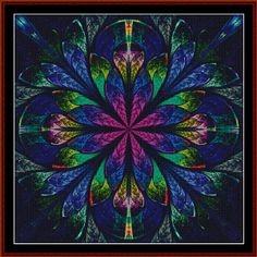 Fractal 444 Cross Stitch Pattern By Cross Stitch Collectibles