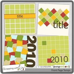 Scrapping With Liz Templates
