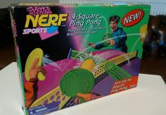 NERF ping pong 4-square RARE retro tabletop game table tennis Kenner Hasbro 1996 in Toys & Games, Vintage & Classic Toys, Other Vintage & Classic Toys | eBay!