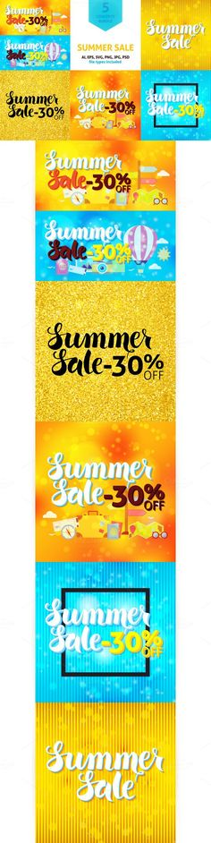 Summer Sale 30% Off Vector Concepts. Travel Infographics. $14.00
