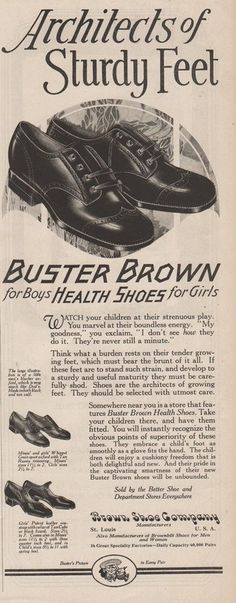 Buster Brown Health Shoes. Original magazine advertising, print ad that is in good to very fine condition. This collectible magazine advertisement measures about Check out our daily deals! | eBay!