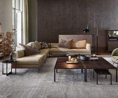 Italian modern living room table - Jan - Molteni&C Luxury Sofa, Luxury Furniture, Furniture Design, Sofa Design, Living Spaces, Living Room, Sofa Shop, Contemporary Interior Design, Corner Sofa