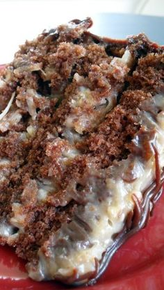 German Chocolate Cake ~ it's so moist,,rich and really, really delicious! my grandpa loves german chocolate. Sweet Recipes, Cake Recipes, Dessert Recipes, Drink Recipes, Food Cakes, Cupcake Cakes, Cupcakes, How Sweet Eats, Yummy Cakes