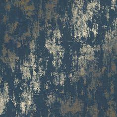 Milan Metallic wallpaper in navy & gold