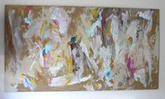 Wall Art: DIY Abstract art... oh how I would love to get messy painting something like this and seeing what turns out!
