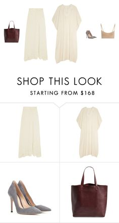 """Tuesday"" by amberelb ❤ liked on Polyvore featuring 1205, The Elder Statesman, Gianvito Rossi, Madewell and Hanro"