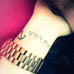 coordinates- love the font and the anchor