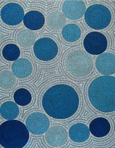 aboriginal art..  #blue  http://thisisadesignblog.com/2009/06/