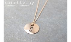 Ginette NY collier One on a chain or ros