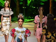 Designers Domenico Dolce and Stefano Gabbana fill their front row with internet stars and trendsetters