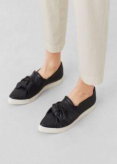 Knot detail sneakers | MANGO