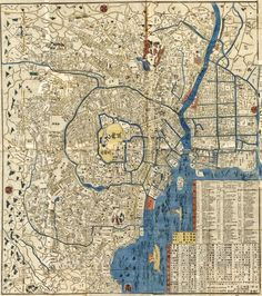 A rare 19th century korean world map based on the shan hai jing 1863 japanese map of tokyo by nishimuraya yohachi publicscrutiny Images