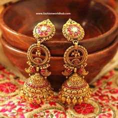 Antique jumkhas From Manubhai Jewellers | Fashionworldhub