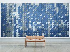 Acoustic Wood Wool Tiles BAUX ACOUSTIC TILES TRIANGLE by BAUX design Form Us With Love