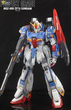 PG Zeta Gundam - Customized Build Modeled by Jon-K Perfect Grade, Zeta Gundam, Gunpla Custom, Gundam Model, Mobile Suit, Transformers, Robot, Guys, Cool Stuff