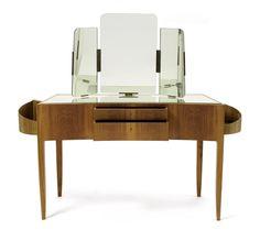 Oswald Haerdtl, Toilettetisch, 1950er Jahre Office Desk, Old Things, Vanity, Deep, Mirror, Furniture, Home Decor, Table, Vanity Area