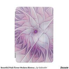 Beautiful Pink Flower Modern Abstract Fractal Art iPad Mini Cover