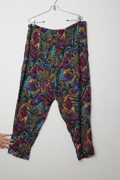 Vintage 80s Aztec Print  MC Hammer Pants