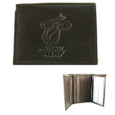 Rico NBA Miami Heat Embossed Leather Billfold Wallet with Man Made Interior