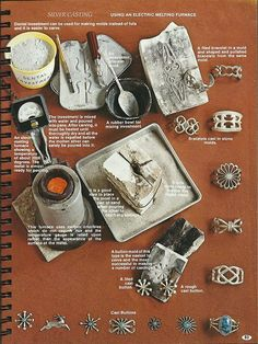 The Art of Fire for the Uninitiated: Navajo Silver Casting pt I (source: Indian Jewelry Making, Oscar T. Branson 1977, 1979)