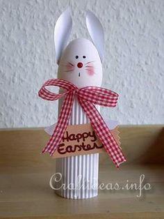 Cardboard Tube Easter Bunny