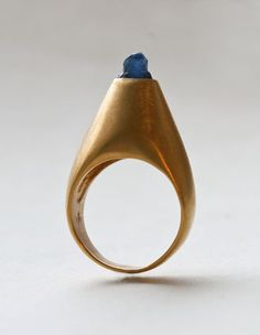 oh come on now. How many brilliant minds can there be? - Gold Cone Ring