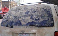 Such a pretty garden. #InkedMagazine #art #dirt #car #dirtycar #cool #garden #flowers