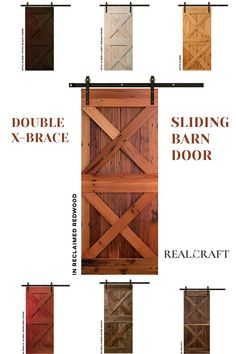 Barn Door Hardware, Barn Doors, Farmhouse Design, Farmhouse Style, House Makeovers, Barn Door Designs, Door Ideas, Wood Species, Home Remodeling