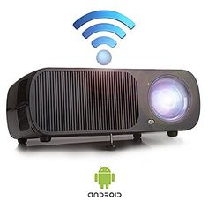 Yuntab Mini Video WiFi Projector Android BL20 200 Portable 2600 Lumens 3D Best Mini LCD Wireless Home Cinema Theater Projector Supports HD 1080p -- You can get additional details at the image link.
