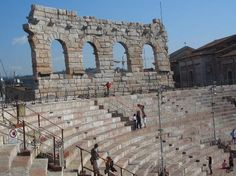 Verona... you can walk the entire colosseum.