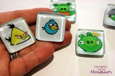 Easy Angry Birds magnets