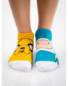 Adventure Time Names Mix and Match No Show Socks 5 Pk