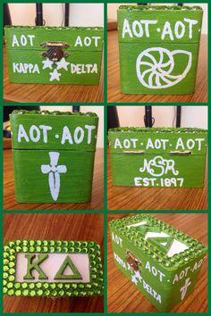 Kappa Delta pin box for my little!