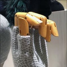 These Fingerless Winter Glove Handforms are more interesting, fashion-forward and appealing than a full fingered glove display. Retail Displays, Visual Merchandising, Fashion Forward, Fendi, Gloves, Knitting, Winter, In Trend, Winter Time