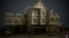 Modular Medieval Building Set (retextured), Marcel Hansen on ArtStation at https://www.artstation.com/artwork/DBZAE