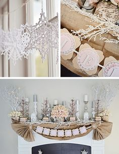 This Rustic Winter Wonderland first birthday party offers tons of beautiful and feminine inspiration.